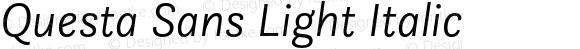 Questa Sans Light Italic