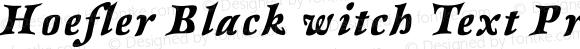 Hoefler Black witch Text Pro Italic Version 001.001