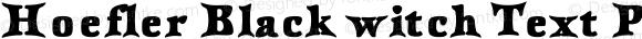 Hoefler Black witch Text Pro Bold Version 001.001