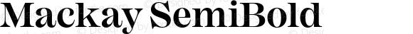Mackay SemiBold