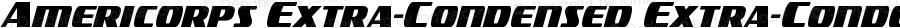 Americorps Extra-Condensed Extra-Condensed Version 2.0; 2018