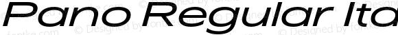 Pano Regular Italic
