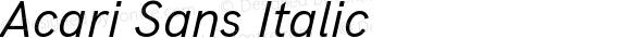 Acari Sans Italic