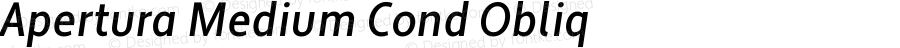 Apertura Medium Cond Obliq Version 1.000 2008 initial release