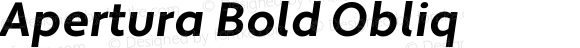 Apertura Bold Obliq Version 1.000 2008 initial release