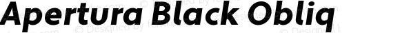 Apertura Black Obliq Version 1.000 2008 initial release