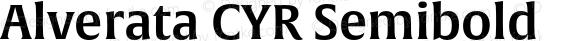 Alverata CYR Semibold Version 1.001