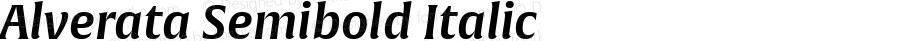 Alverata Semibold Italic Version 1.001