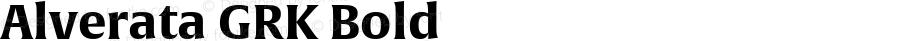 Alverata GRK Bold Version 1.001