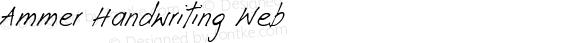 Ammer Handwriting Web