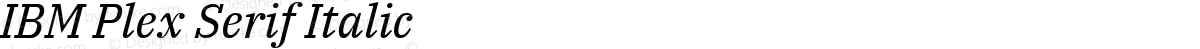 IBM Plex Serif Italic