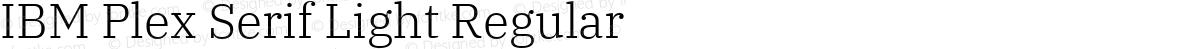 IBM Plex Serif Light Regular