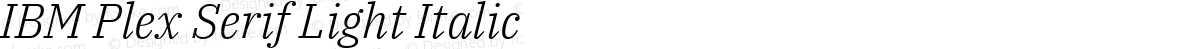 IBM Plex Serif Light Italic