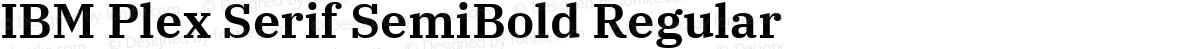 IBM Plex Serif SemiBold Regular