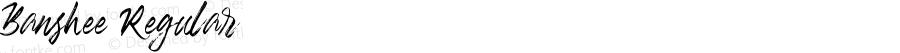 Banshee Regular Version 1.002;Fontself Maker 2.3.0