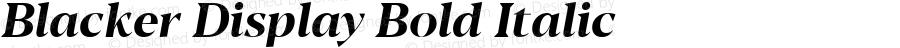 Blacker Display Bold Italic Version 1.000