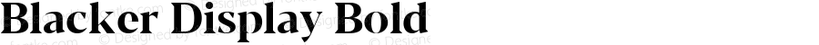 Blacker Display Bold Version 1.000