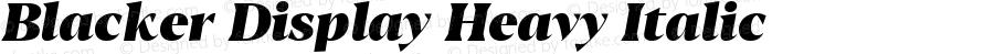 Blacker Display Heavy Italic