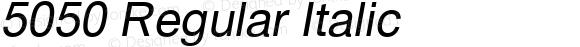 5050 Regular Italic