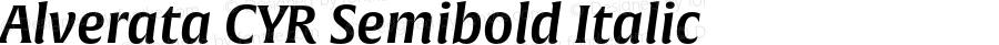 Alverata CYR Semibold Italic Version 1.001