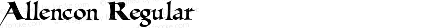 Allencon Regular Macromedia Fontographer 4.1.4 9/12/01