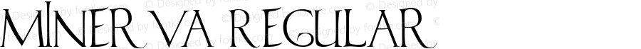 Minerva Regular Macromedia Fontographer 4.1.4 11/27/01