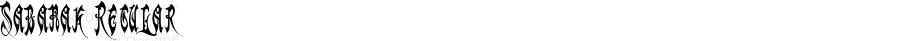 Sabanak Regular Macromedia Fontographer 4.1.4 10/10/03