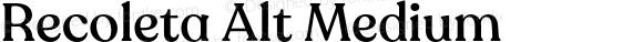 Recoleta Alt Medium Version 1.0 | wf-rip DC20180525