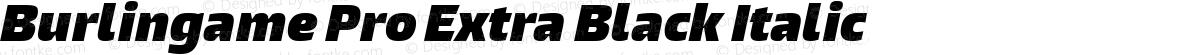 Burlingame Pro Extra Black Italic