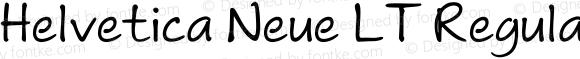Helvetica Neue LT