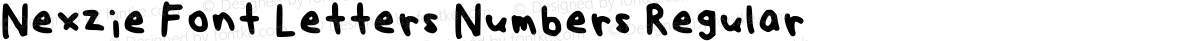 Nexzie Font Letters Numbers Regular