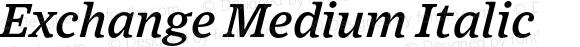 Exchange Medium Italic