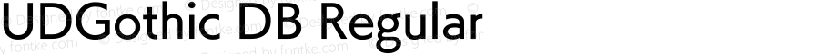 UDGothic DB Regular 1.0