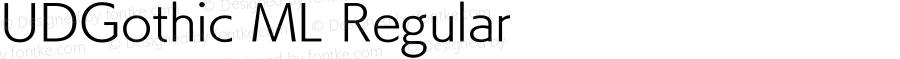 UDGothic ML Regular 1.0