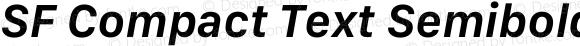 SF Compact Text Semibold Italic
