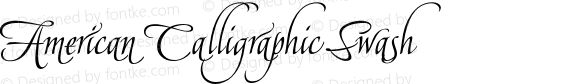 American Calligraphic Swash Version 1.001 2017