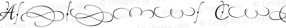 American Calligraphic Fleur Version 1.001 2017
