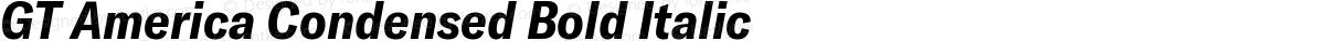 GT America Condensed Bold Italic