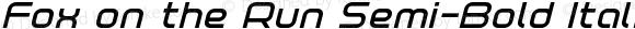 Fox on the Run Semi-Bold Italic Semi-Bold Italic