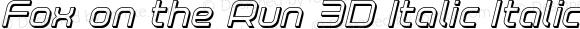 Fox on the Run 3D Italic Italic Version 1.0; 2018