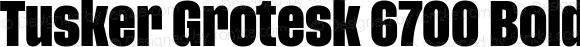 Tusker Grotesk 6700 Bold