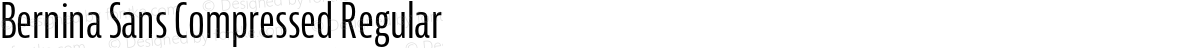 Bernina Sans Compressed Regular