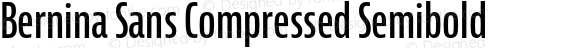 Bernina Sans Compressed Semibold