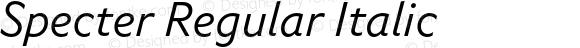 Specter Regular Italic