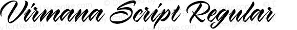 Virmana Script Regular 1.000
