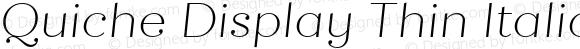 Quiche Display Thin Italic