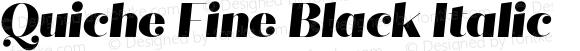 Quiche Fine Black Italic