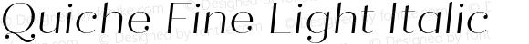 Quiche Fine Light Italic