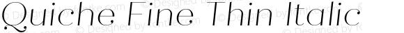 Quiche Fine Thin Italic