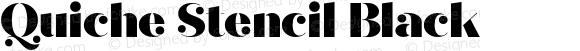 Quiche Stencil Black